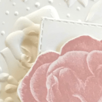 Cottage Garden Embossing a Card Panel
