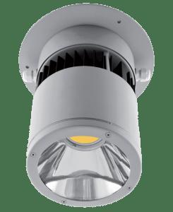 Surface mounted IP54 LED luminaire.