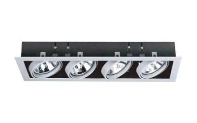 Linear Quad LED AR111 recessed downlighter
