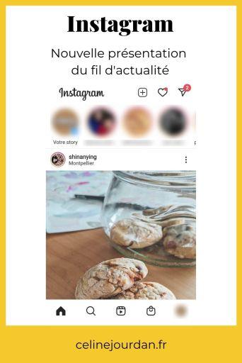 Présentation du fil d'actualité sur Instagram novembre 2020