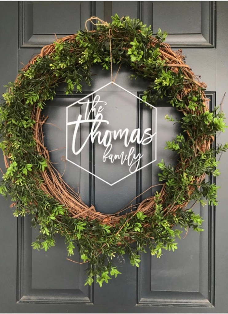 Front door wreath for gift