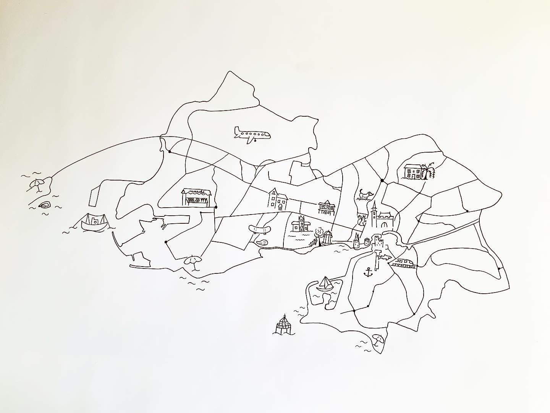 Dessin carte La Rochelle