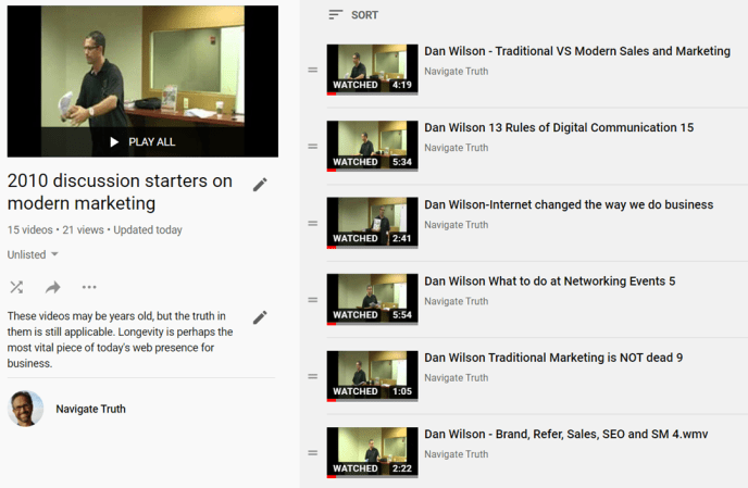 2010 discussion starters on modern marketing playlist