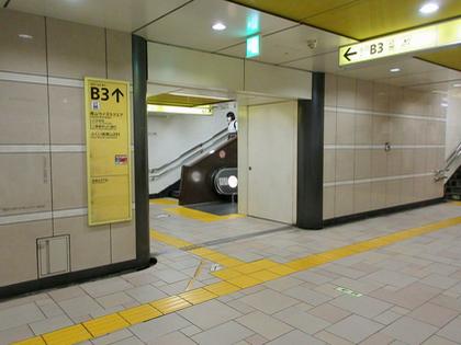 表参道駅 B3 エスカレーター