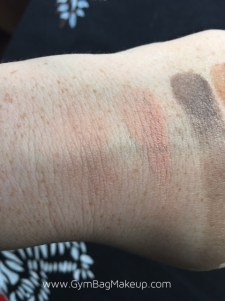 There is a heavy swatch on the right and blended swatch on the left.