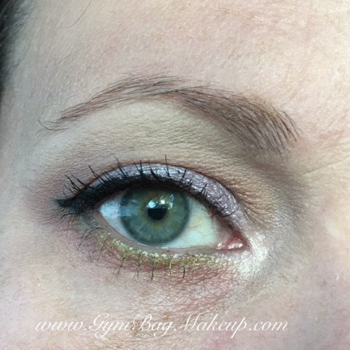 From the AP palette: 6 - base, blending and highlight. 2 - transition and blending the lower lash line. 8 - outer corner. 4 - lid shade. 1 - inner corner. KVD ink liner in Trooper. UD Zero to tightline and in the waterline. UD Freak in the waterline. From the KVD Mi Vida Loca Palette: Vinyl - lower lash line. NYX Color Mascara in Perfect Pear - lower lashes along with Benefit Rollerlash (Rollerlash on the top lashes). LOreal brow mascara.