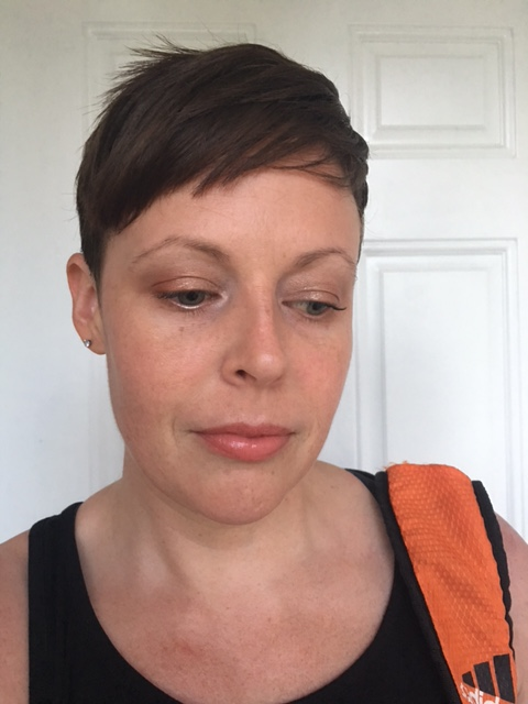 """Revlon powder (this is starting to feel very redundant). Peter Thomas Roth concealer, Laura Mercier SBP, Flower Beauty Win Some Lose Some Blush """"Peach Blossom"""", WnW """"Merigold Round"""" (LE) highlight. Lancom LIPS: """"Boudoir Baby"""""""