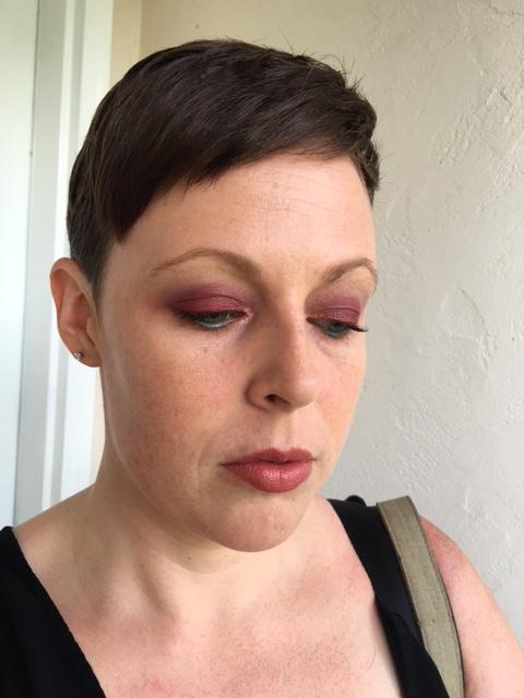 "Revlon Nearly Naked powder. Laura Mercier Secret Brightening Powder under the eyes. MAC ""Mystical"" (LE) lipstick."