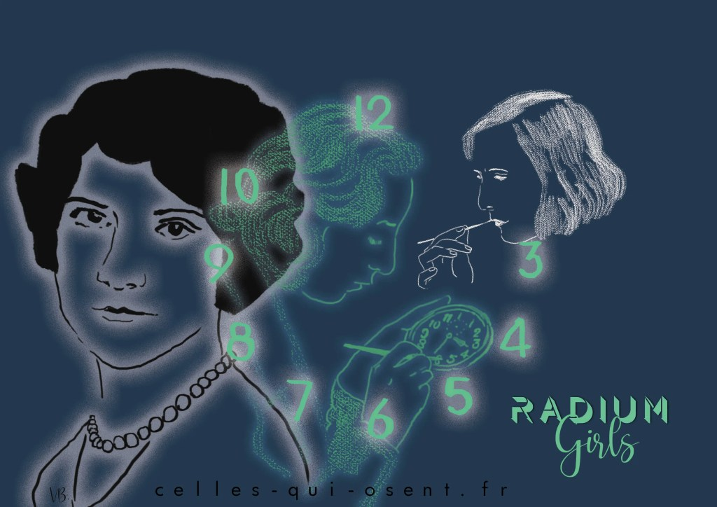 radium-girls-horloge-cadrans-phosphorescence-radium-poison-ouvrières