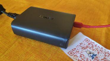 Con cavo AUKEY USB-C 2m Nylon