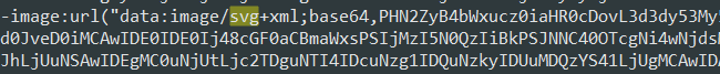 Figure 3. Code showing images that are saved as .svg files with base64 encode