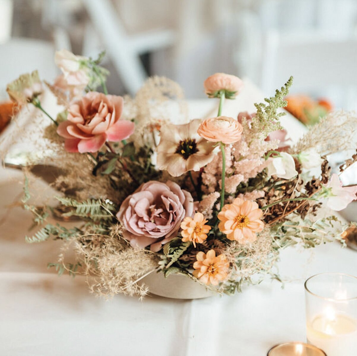 wedding-flowers-florist-sydney-reception-centrepiece-packages-prices-dried-boho-roses