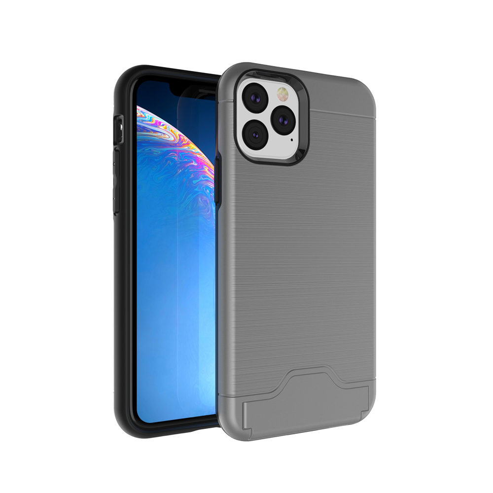 Case For iPhone 11 11 Pro 11 Pro Max Brushed Hybrid Wallet Card Holder Kickstand Cover For iPhone 6 6S XS MAX XR X 6 6S 8 7 PLUS