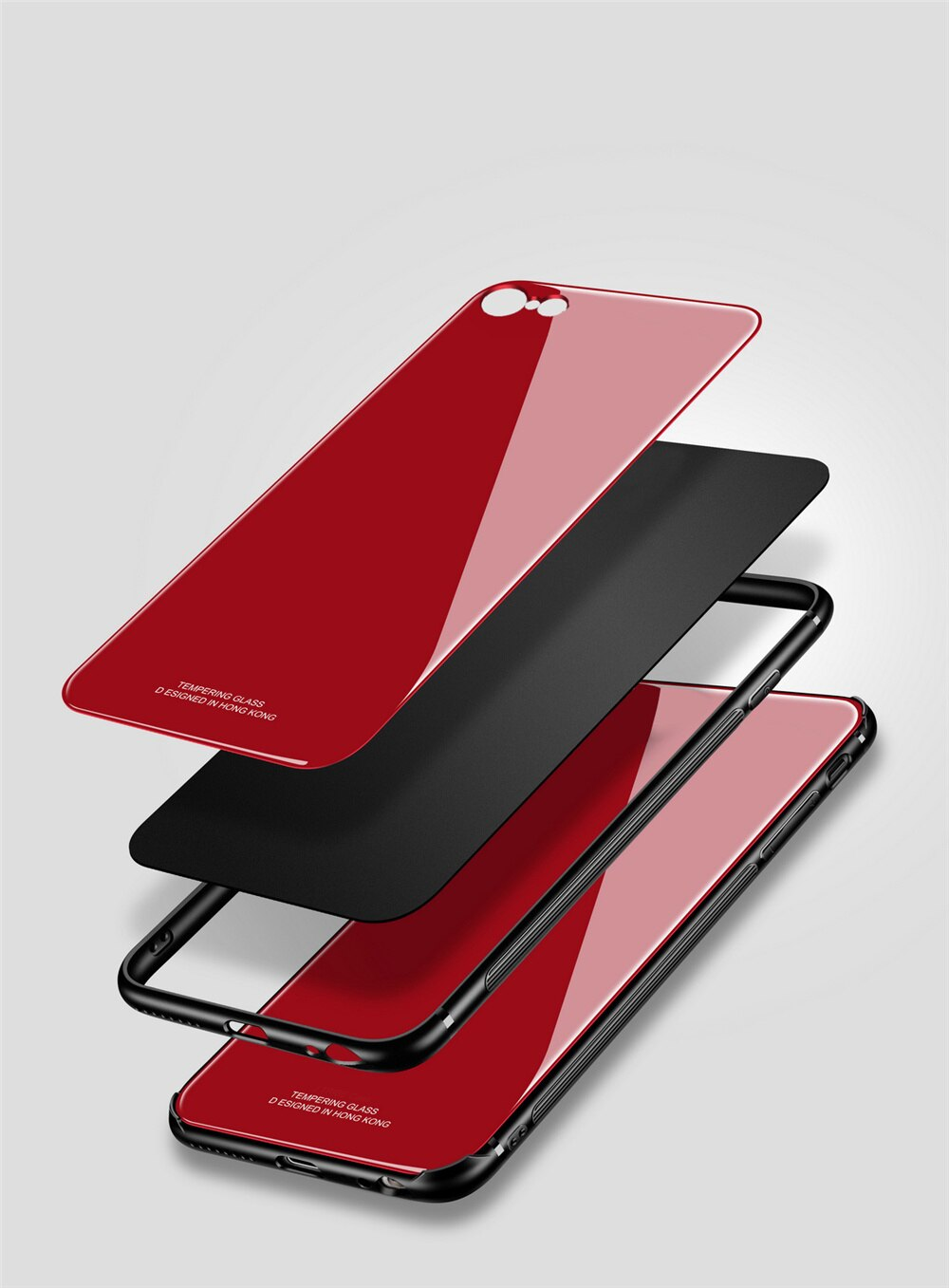 Tempered Glass Case for iPhone 7 6 6s 8 Plus X Xs Max XR Shockproof Soft TPU Edge Silicone Hard Back Cover for iPhone 7 8 Plus