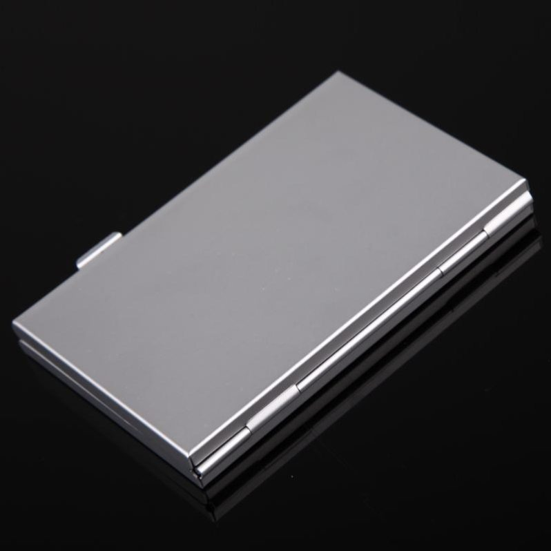 Portable 12 in 1 Memory Card Case Metal Aluminum Storage Box Protecter Case Holder for SD/SDHC/SDXC/Micro SD/TF/MMC Memory Card