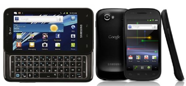 Samsung Galaxy Nexus vs. Samsung Captivate Glyde