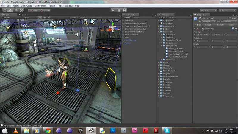 Unity3D gaming development tool