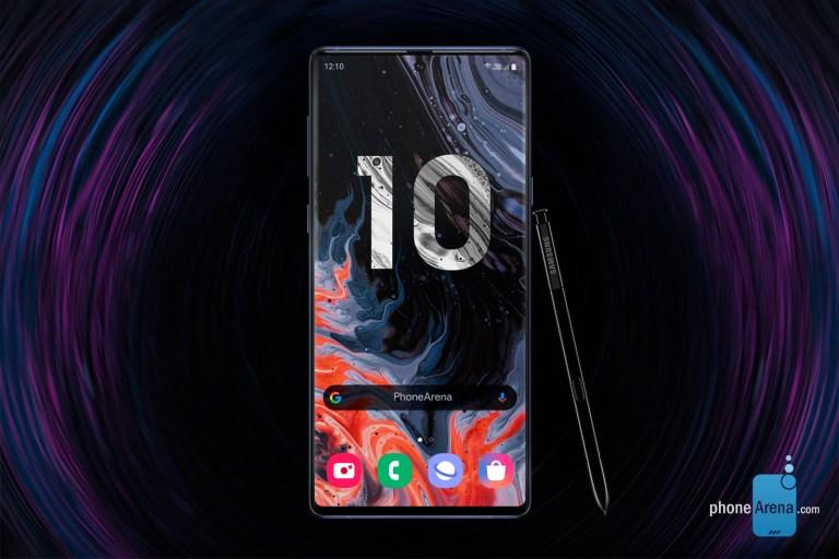 """Sforum - Trang thông tin công nghệ mới nhất Samsung-Galaxy-Note-10-5 PhoneArena khoe thiết kế """"nốt ruồi và 4 camera dọc"""" của Galaxy Note 10 trong bộ concept 3D mới"""