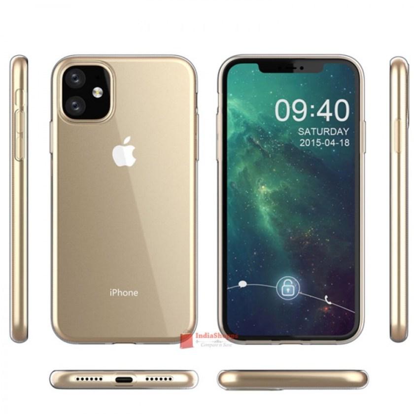 """Sforum - Trang thông tin công nghệ mới nhất anh-render-iPhone-XR-2019-8 Đến lượt iPhone XR 2019 lộ diện: Màn hình """"tai thỏ"""", 4 tùy chọn màu sắc, camera sau kép"""