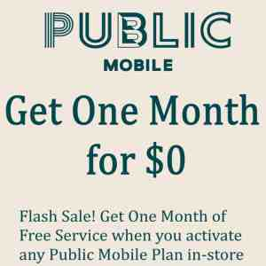 Public Mobile One Month Free Promo