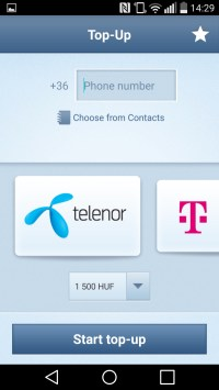 Specify phone number, carrier and desired amount