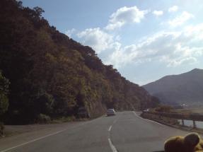 perjalanan menuju Katsuura gun..
