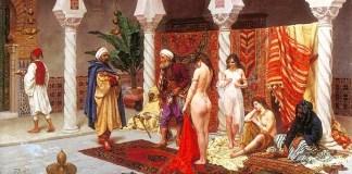 lukisan perdagangan perempuan di timur tengah