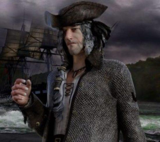 Es un hombre pirata que se acaba de bajar del barco