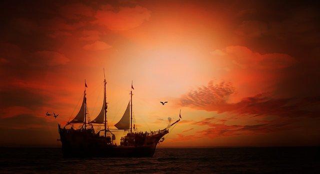Es una nave sin timon enmedio del mar