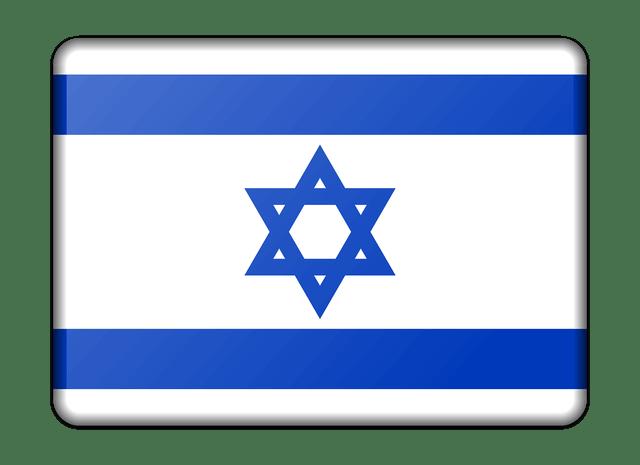 es la bandera de Israel con su estrella azul