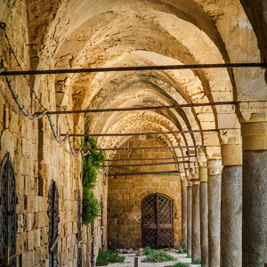 Abandoned Ottoman Castle, Akko (Acre), Israel.