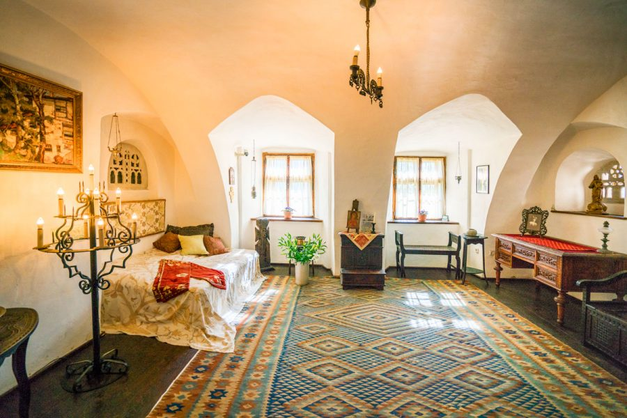 Bedroom in the Bran Castle, Romania