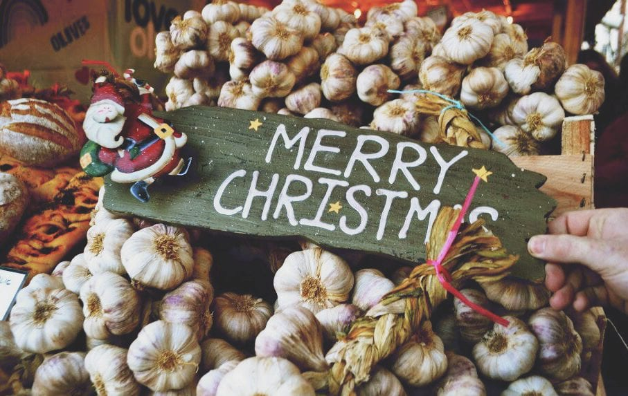 merry christmas garlic
