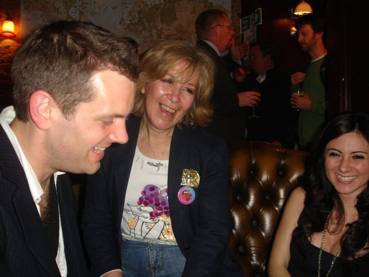 """At the """"Globe"""", the pub where we eneded up most of the evenings with Jamie Keddie and Isli Boy"""