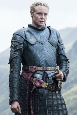 Brienne of Tarth from Game of Thrones, upcoming in Season 8.