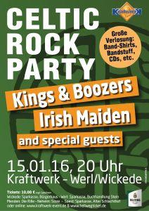 Plakat Celtic Rock Party 15.01. Kraftwerk Werl