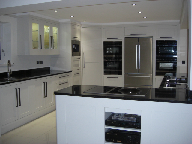 Modern Classic Kitchen in Aberdare, South Wales, UK by Celtica Kitchens. Designer: Cameron Pyke