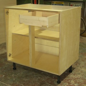 base carcase from front, with drawer