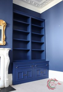 Alcove cabinets and bookcase in Victorian house in Brighton