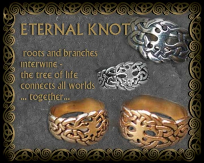 Celtic Wedding Rings The Eternal Knot Gold And Silver
