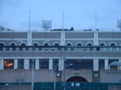 ウェンブリーウェイから見たスタジアム