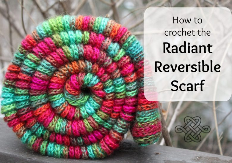 colorful crochet scarf for a beginner