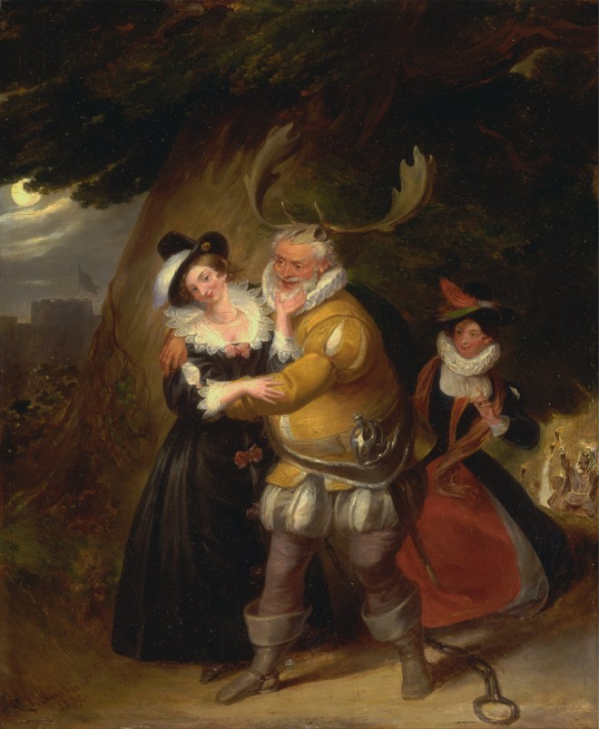 James Stephanoff 'Falstaff at Herne's Oak'