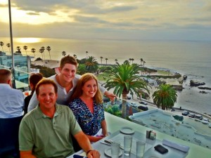 Michael and his children, Stephanie and Jeffrey, vacationing in La Jolla.