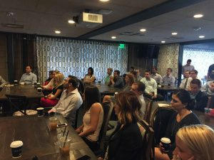 A Developing Leaders education event featured breakfast with Valley businessman Sam Fox at the Henry.