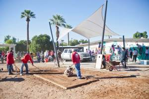 More than 200  volunteers attended to help transform the Perry Rehabilitation Center at the Arizona Foundation for the Handicapped. (Photo credit: SHAVON ROSE/AZ Big Media)