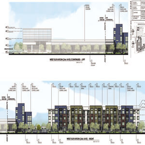 Renderings for Apts at SEC or Indian School Rd   3rd Ave - Evergreen