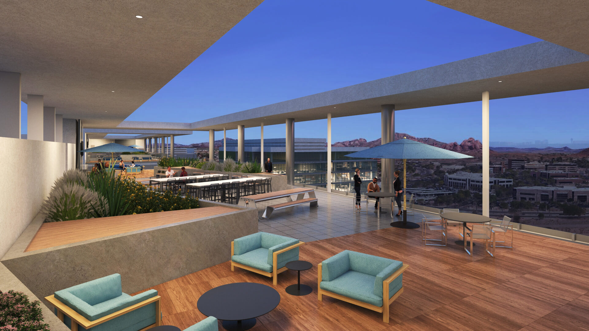Rooftop lounge tempe