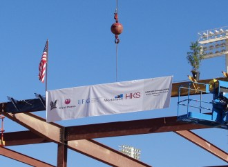 Brewers, Mortenson celebrate construction progress with 'Topping Out' ceremony at Maryvale Baseball Park